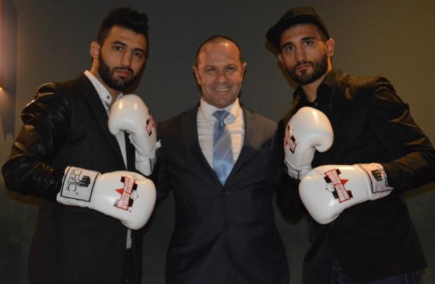 Giorgio et Armen Petrosyan avec Claude Pouget au centreOK